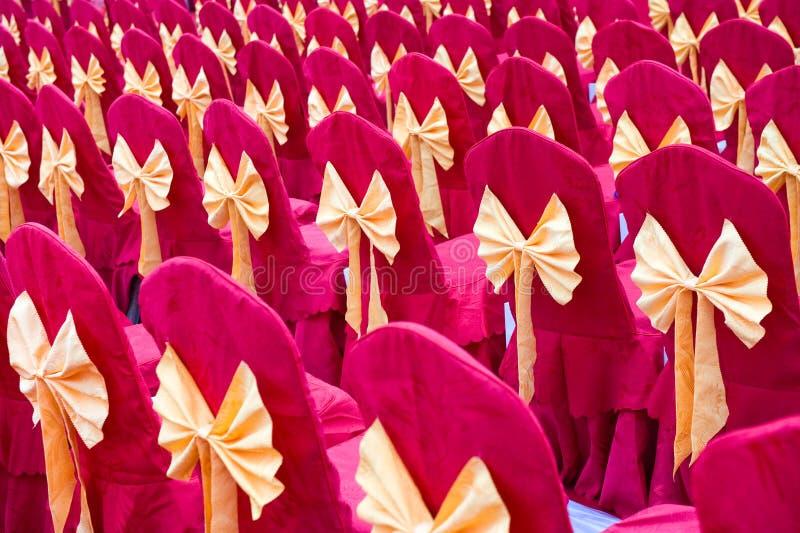 bowknot ροζ εδρών στοκ εικόνες