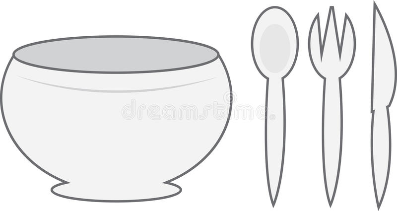 Download Bowl stock vector. Image of eating, lunch, entertain - 23498817