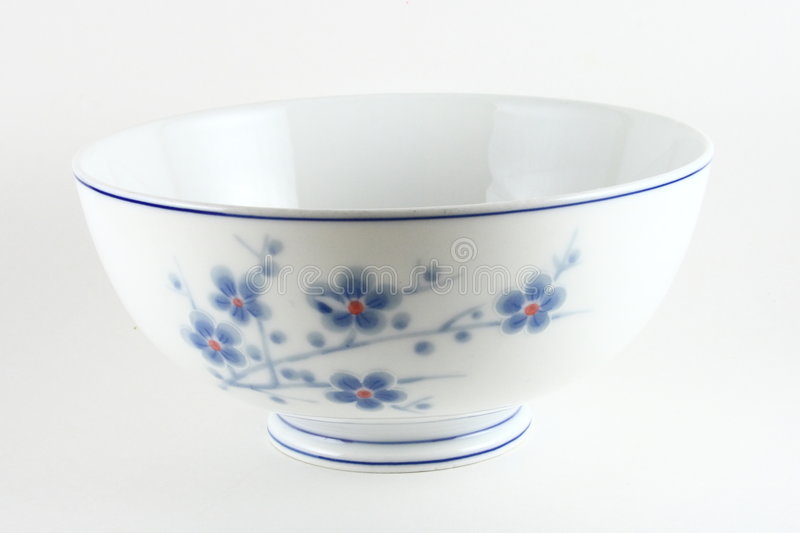 Floral Chinese bowl royalty free stock photos