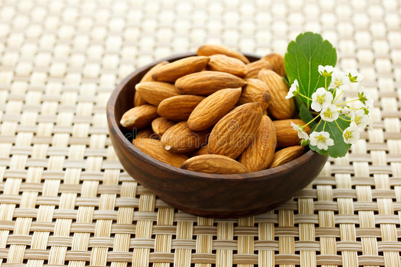 Download Bowl of Almonds stock image. Image of refreshment, plate - 19604981