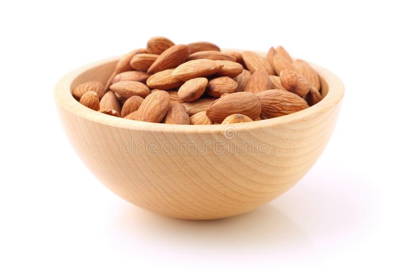 Download Bowl of almonds on white stock image. Image of almond - 14267207