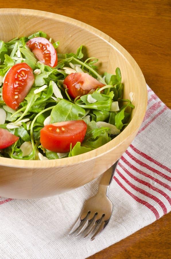Download Bowl of Arugula Salad #2 stock image. Image of food, towel - 27632123