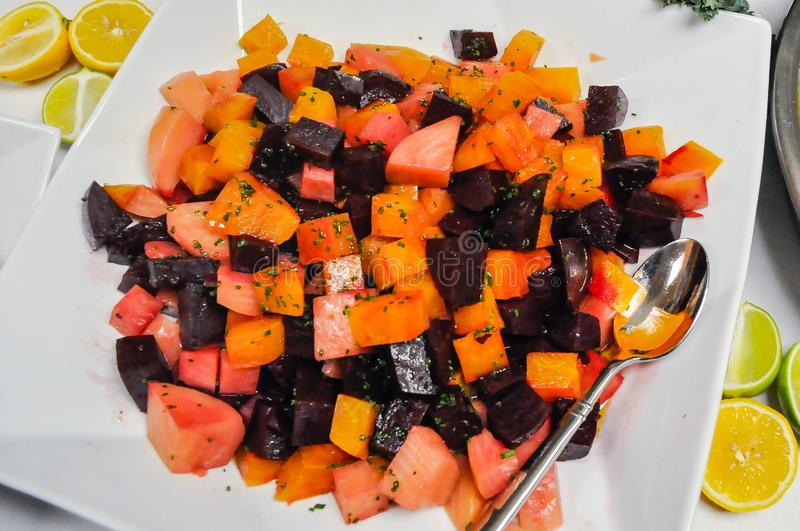Bowl of beets royalty free stock images