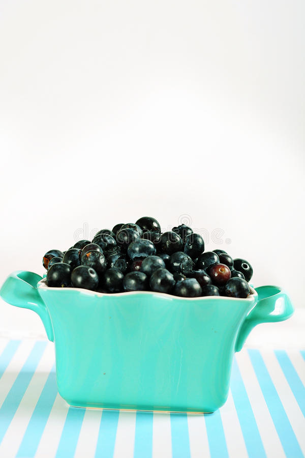 Download Bowl Of Blueberries On Lines Vertical Stock Photo - Image: 14935192