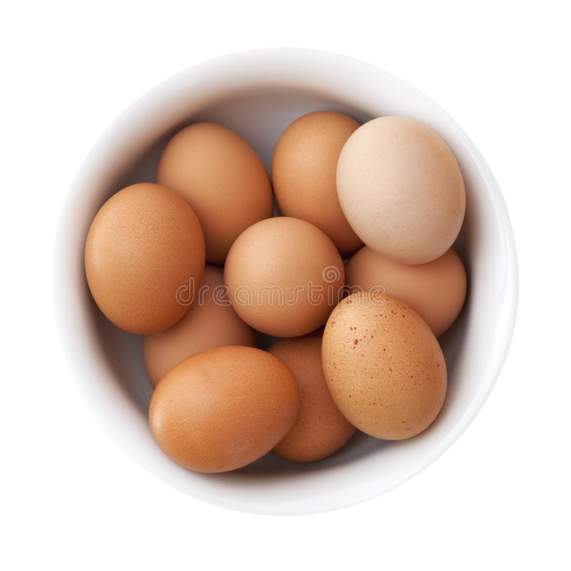 Download Bowl of Brown Eggs stock image. Image of overhead, dairy - 17691623
