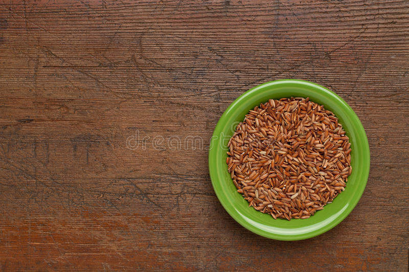 Download Bowl of brown rice stock photo. Image of copy, ceramic - 20046130