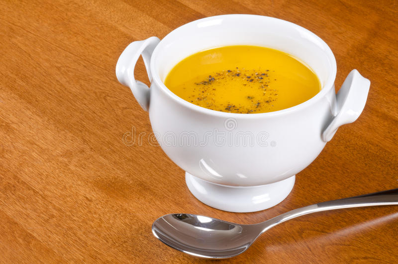 Bowl of Carrot Soup stock photography