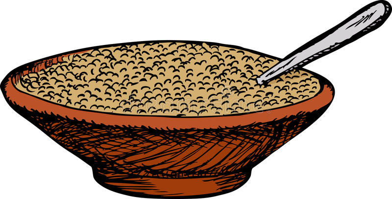 Bowl of Cereal royalty free illustration