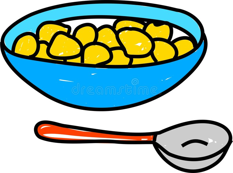 Bowl of cereal stock illustration