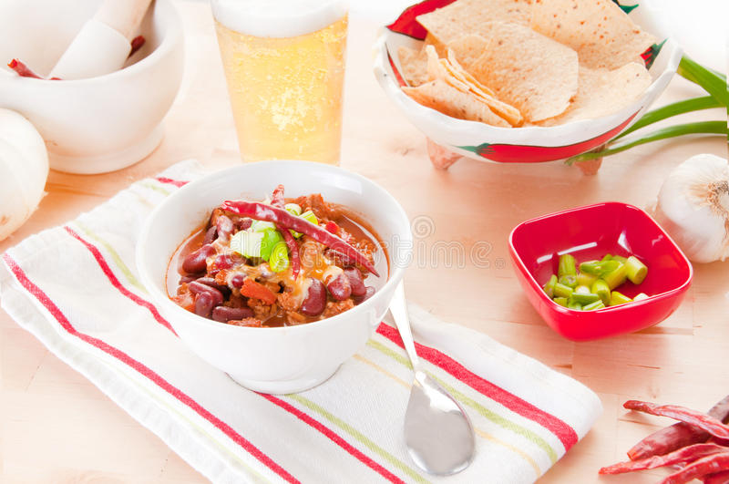 Download Bowl of chili stock image. Image of beverage, soup, dried - 18229079