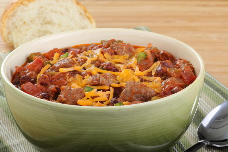 Download Bowl of Chili stock photo. Image of meat, food, bowl - 19426244