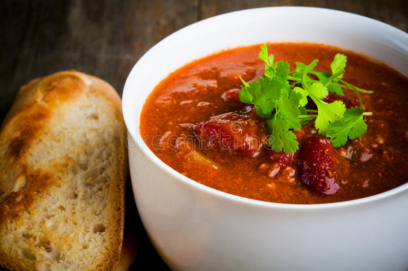 A bowl of chili royalty free stock photo