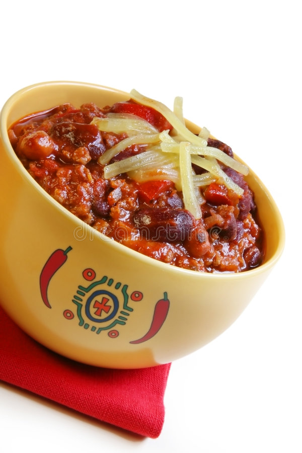Bowl of Chilli stock photography