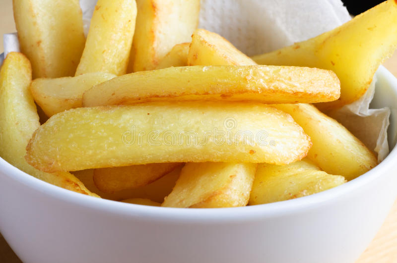 Bowl of Chips stock photography