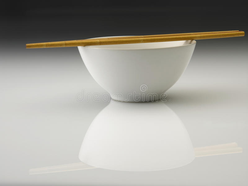 Bowl And Chopstick Stock Images
