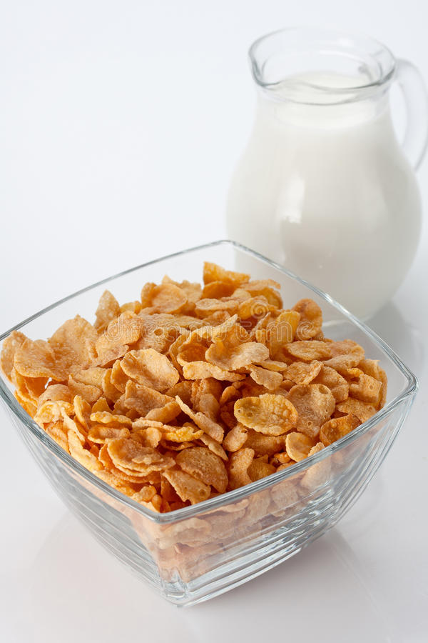 Bowl Of Cornflakes Royalty Free Stock Image