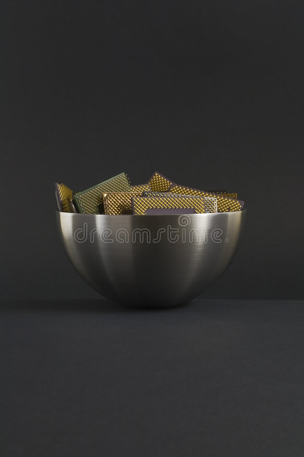 Download Bowl of CPU stock image. Image of current, microchip, known - 7529279