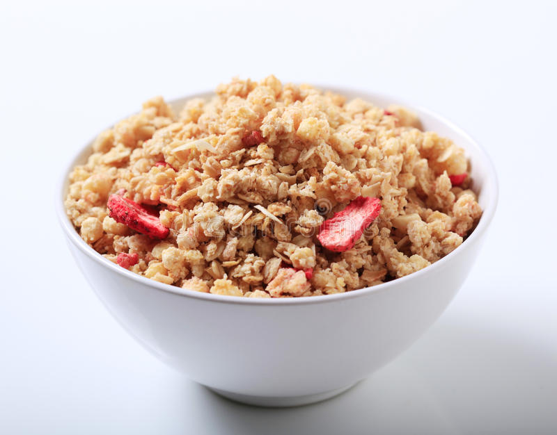Download Bowl of crunchy granola stock image. Image of cereal - 16417245