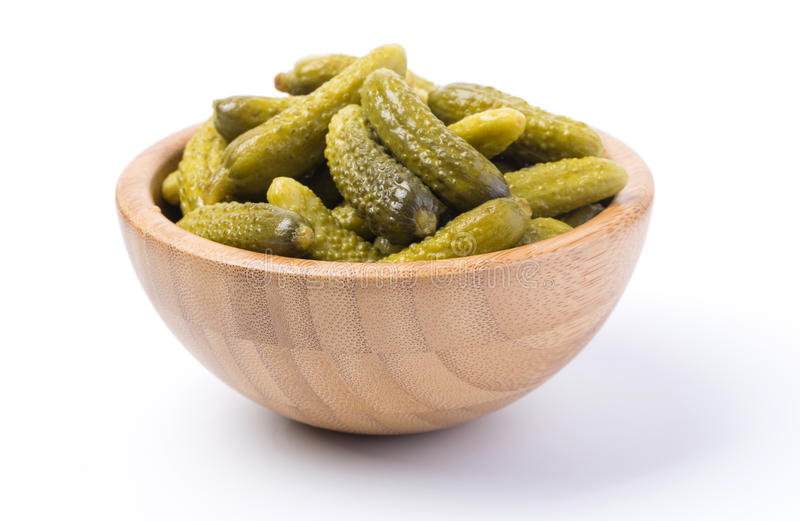 Bowl of cucumber isolated royalty free stock image