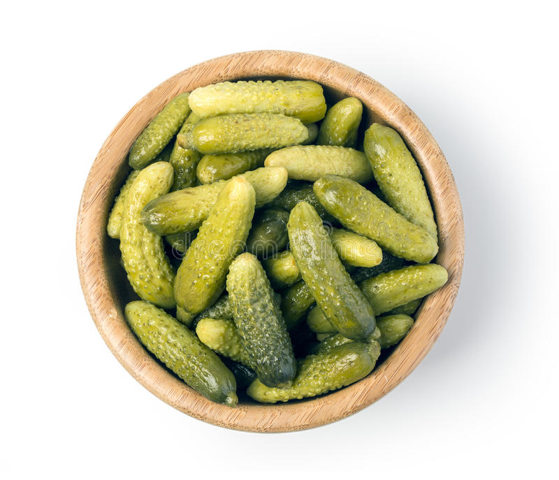 Bowl of cucumber isolated stock photos