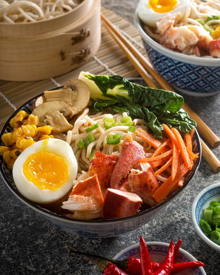 Download Spicy Noodle Lobster Bowl stock photo. Image of homemade - 110484022