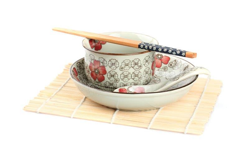 bowl, dish , chopsticks stock photos