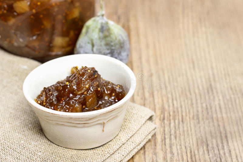 Download Bowl of fig jam stock photo. Image of macro, food, jelly - 41943476