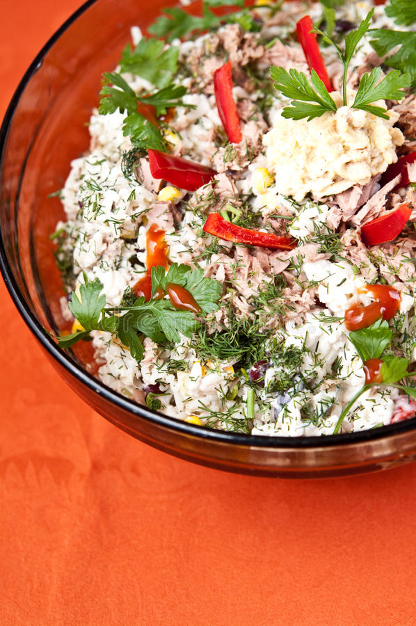 Download Bowl Of Fish Salad Stock Images - Image: 33985694