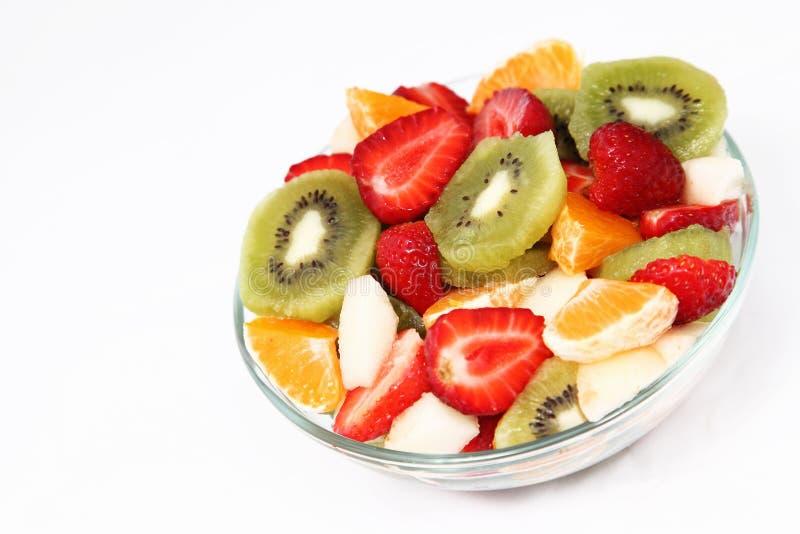 Bowl of fresh fruit salad royalty free stock image