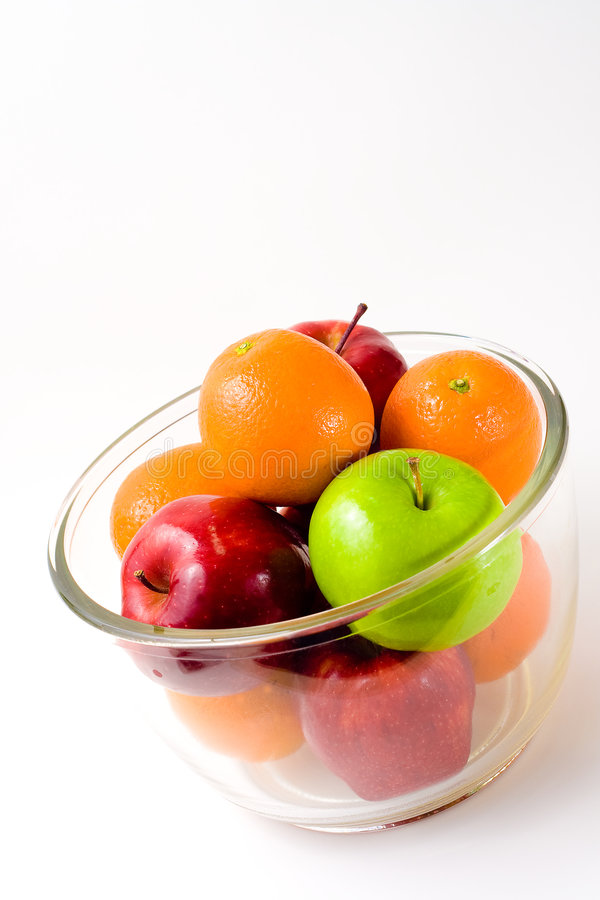 Download Bowl Of Fruit (Apples And Oranges) Stock Image - Image of individuality, objects: 8264907