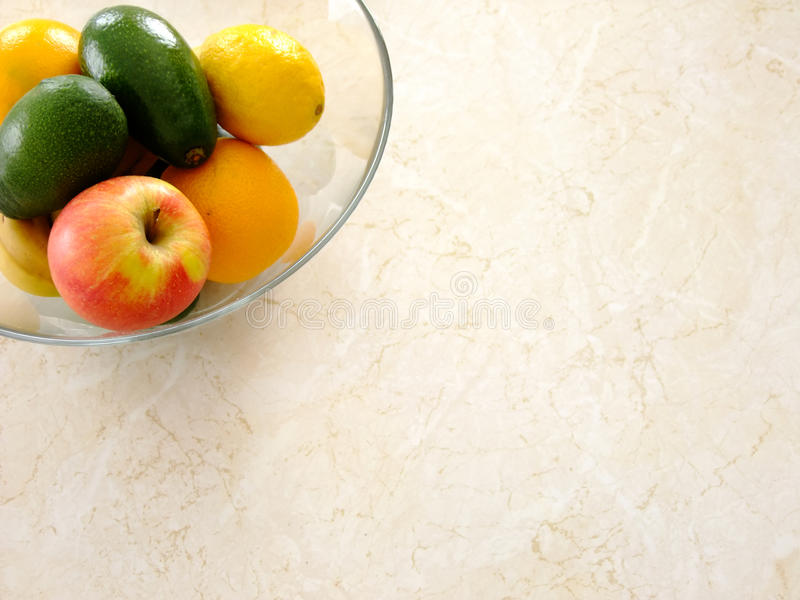 Bowl of Fruits on Table royalty free stock photo