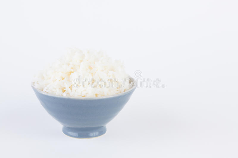 Bowl full of rice stock image