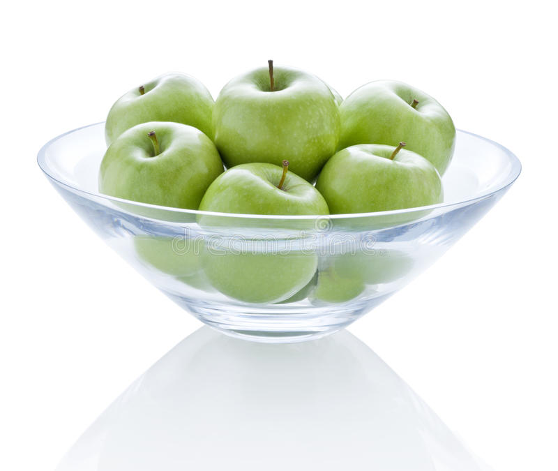 Download Bowl Green Apples Fruit stock image. Image of object - 41115819