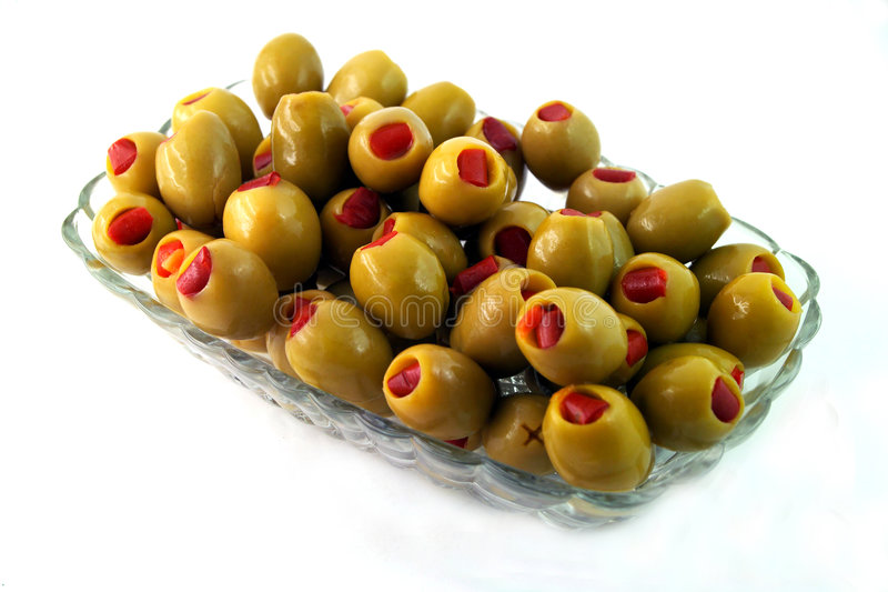 Download Bowl Of Green Olives Stock Photography - Image: 5485712