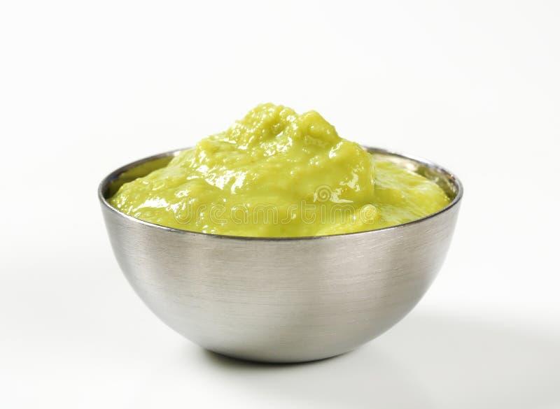 Bowl of Guacamole. Bowl of avocado dipping sauce (guacamole stock photo