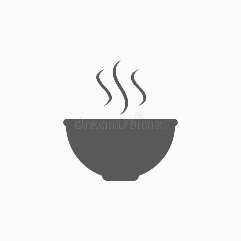 Bowl icon, plate, dish, utensil, food, kitchen. Bowl icon, plate vector, dish icon, utensil vector, food illustration, kitchen illustration stock illustration