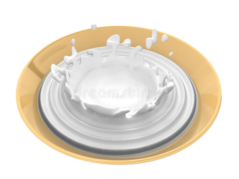 Bowl With Liquid Royalty Free Stock Photography