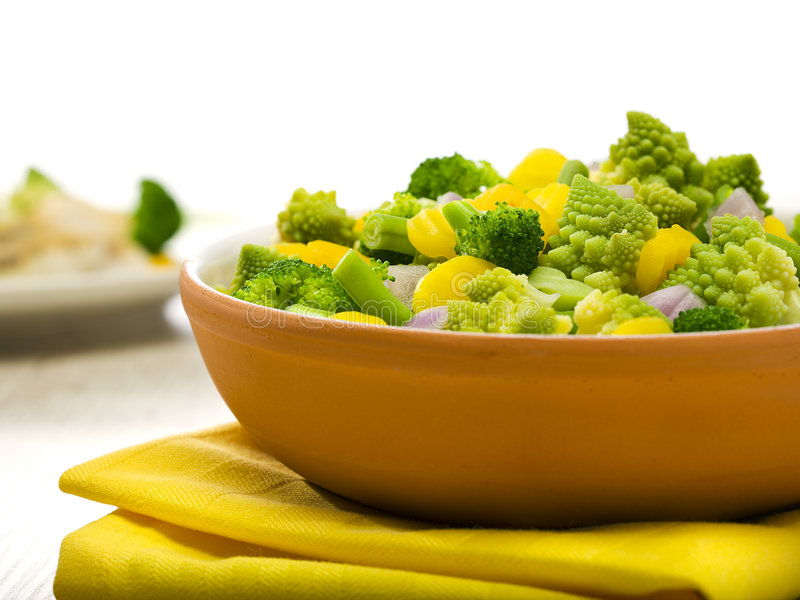 Bowl Of Mixed Vegetables Stock Photos