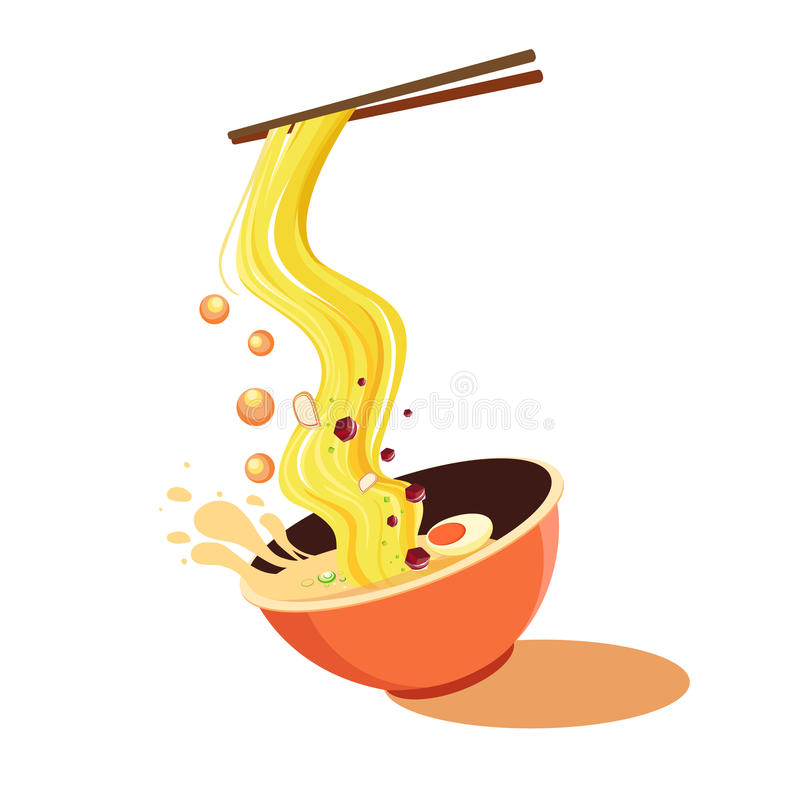 bowl of noodle clip art stock image image of asia japanese 57473551 rh dreamstime com  soup bowl clipart