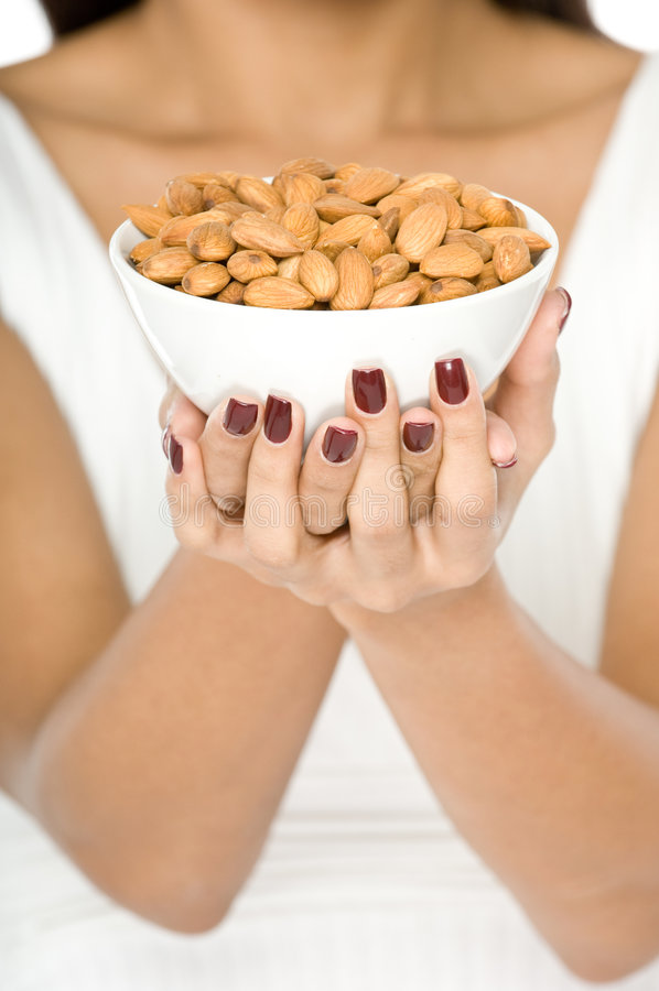 Bowl of Nuts stock image