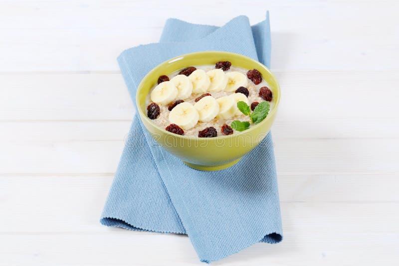 Download Bowl of oatmeal porridge stock photo. Image of healthy - 83706890