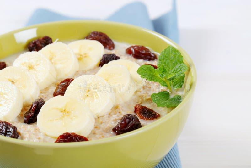 Download Bowl of oatmeal porridge stock image. Image of slice - 83706565
