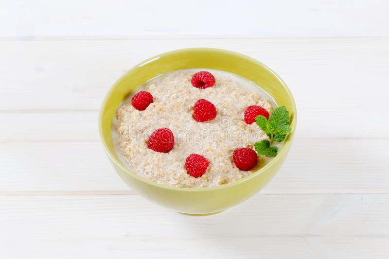 Download Bowl Of Oatmeal Porridge Stock Photo - Image: 83706546