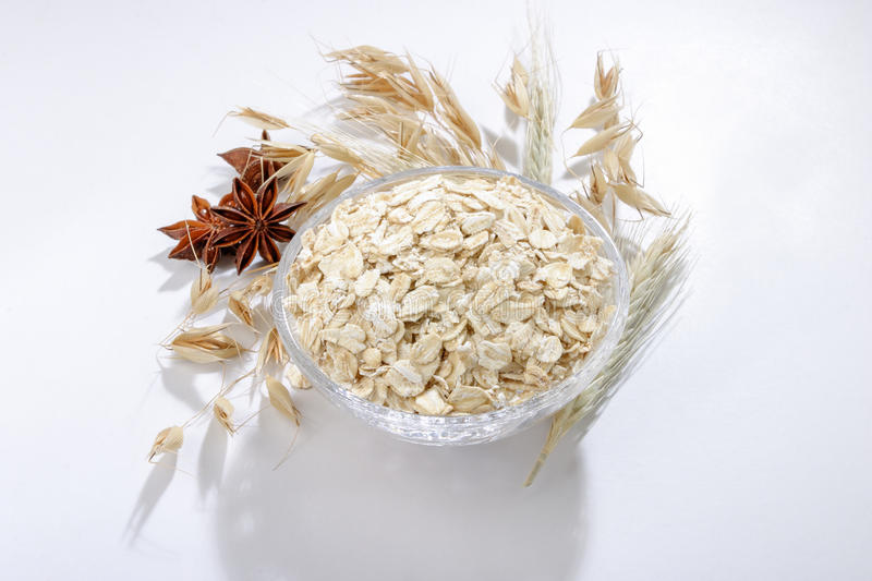 Bowl Of Oats Stock Images