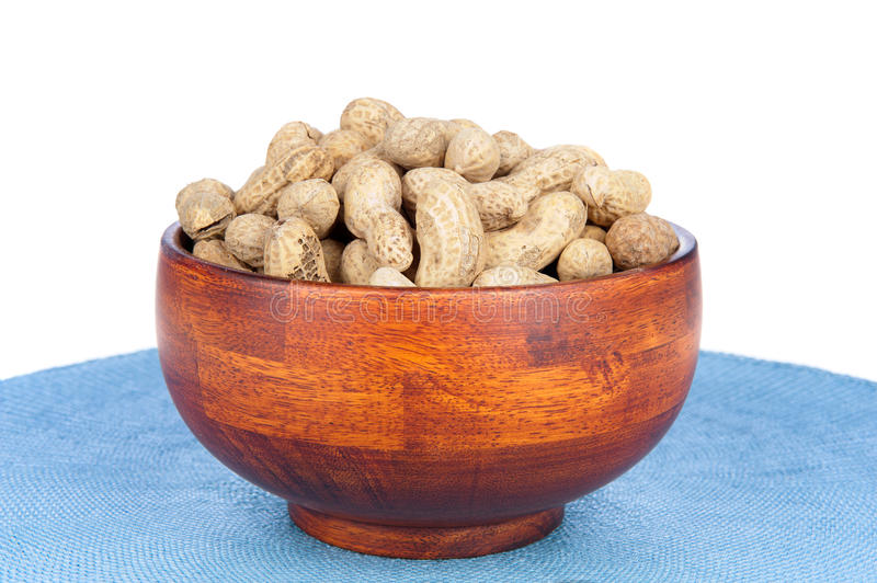 Download Bowl Of Peanuts On A White Background Stock Image - Image: 16460977