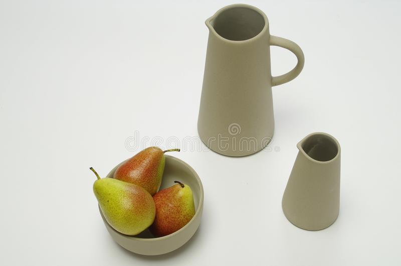 Breakfast with pears royalty free stock photo