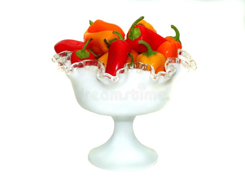 Bowl of Peppers 6 royalty free stock image