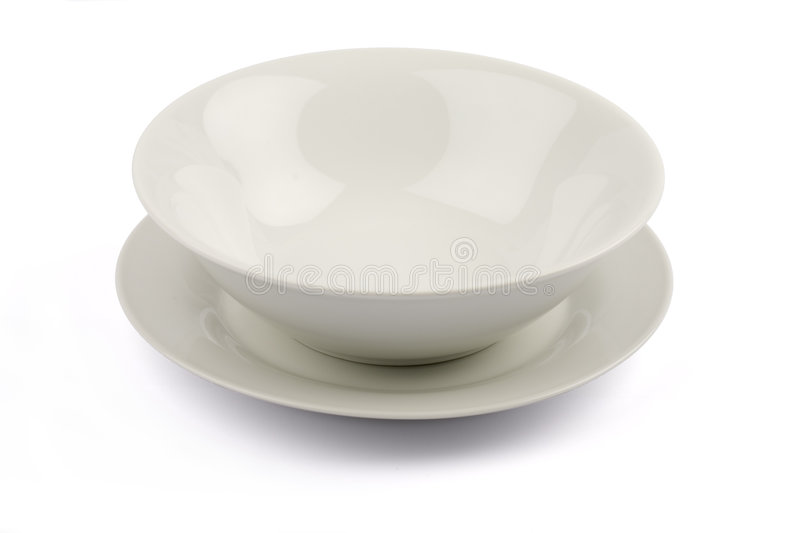 Bowl On Plate Royalty Free Stock Photos