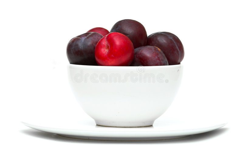 Download Bowl Of Plums Stock Photos - Image: 1400183