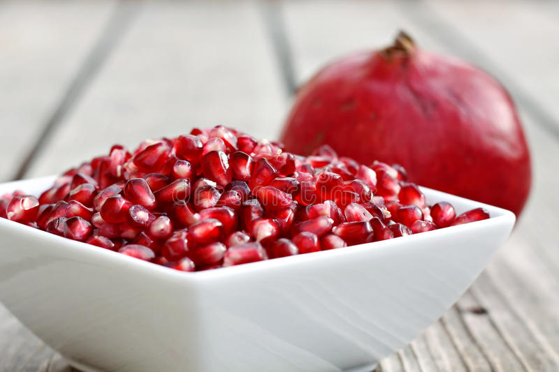 Bowl of Pomegranate Seeds royalty free stock photography